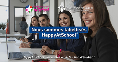Euridis Business School décroche le label HappyAtSchool®