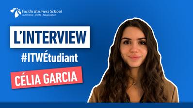 #ITWEtudiant – Portrait de Célia Garcia, étudiante chez Euridis Business School