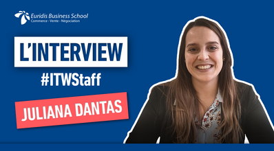 #ITWStaff – Portrait de Juliana Dantas, Directrice pédagogique chez Euridis Business School à Paris La Plaine
