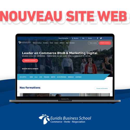 Le nouveau site internet d'Euridis Business School